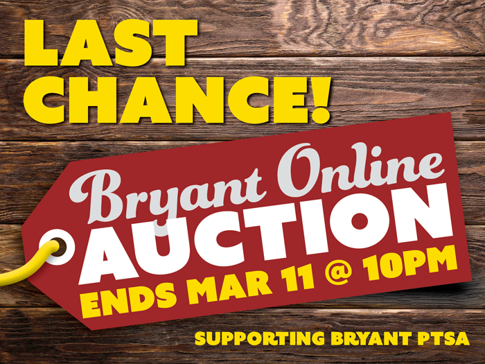 Last Chance! Auction ends Mar 11 at 10pm