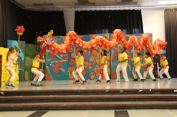 Dearborn Dance Troupe performing Lunar New Year celebration